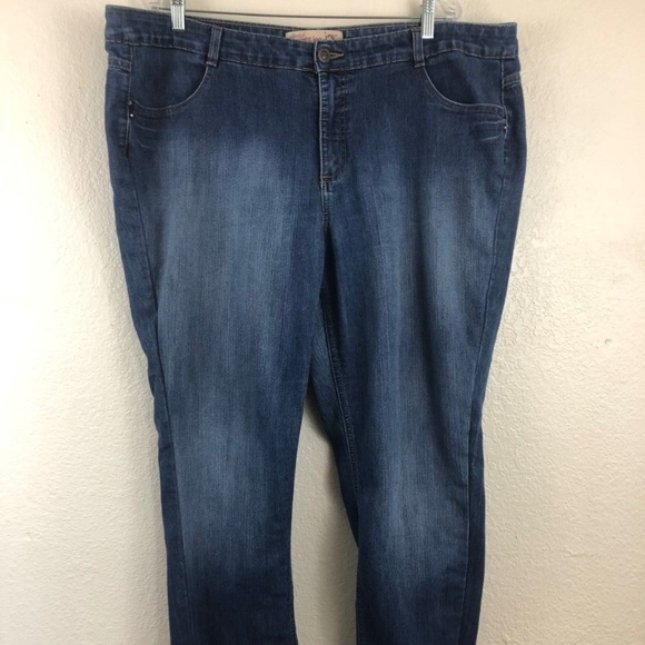 963bce24d8b JMS Plus Size 24W Jeans Stretch Straight Leg